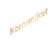 """plakat pt. """"Komunikat"""""""