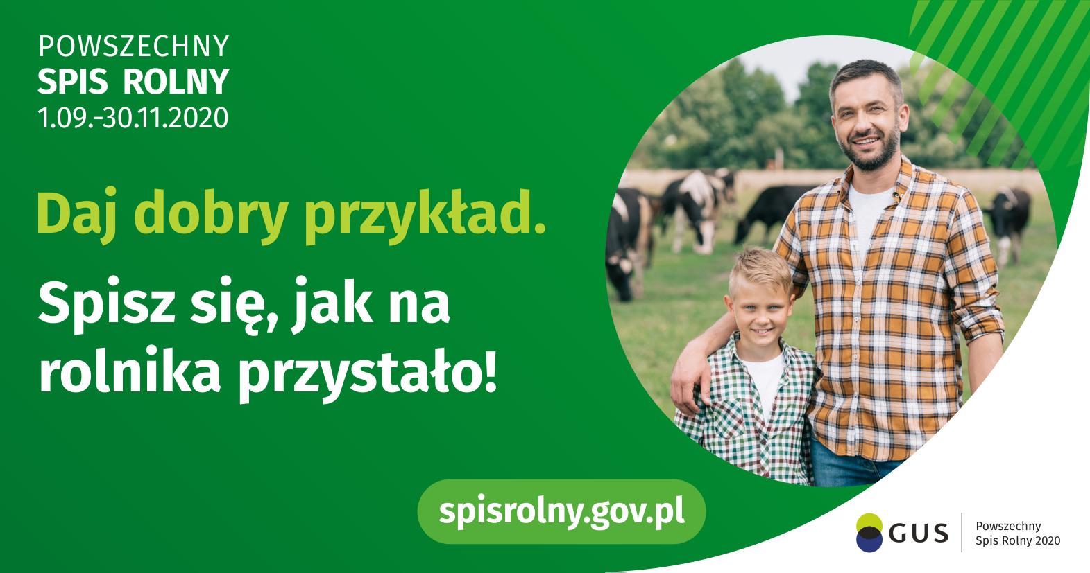 plakat zachęcający do spisu rolnego