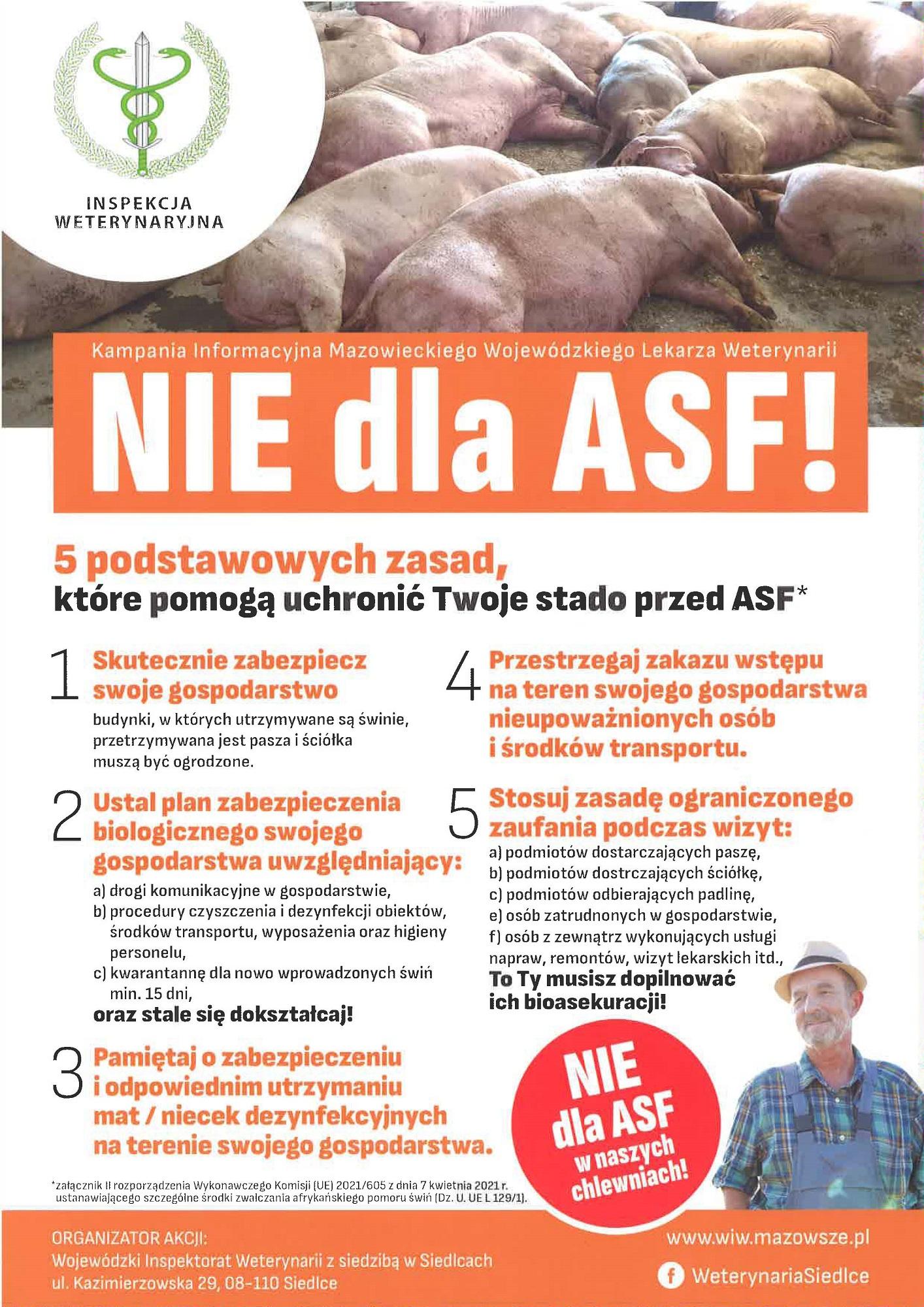 "Plakat pt. ""NIE dla ASF"""