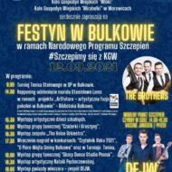 plakat informujący o festynie w Bulkowie