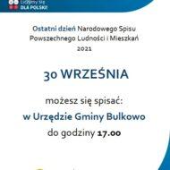 Plakat informujący o ostatnim dniu spisu ludności