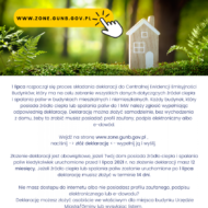 Ulotka deklaracji do Centralnej Ewidencji Emisyjności Budynków, który ma na celu zebranie wszystkich danych dotyczgcych źródeł ciepła i spalania paliw w budynkach mieszkalnych i niemieszkalnych